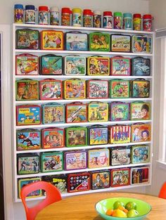 I love this display of lunchboxes