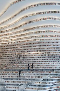 Une Bibliothèque chinoise spectaculaire contient 1,2 Million de Livres dans ses Murs incurvés (5)