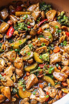Chicken And Shrimp Vegetable Stir Fry Recipe.Chinese Chicken Stir Fry Recipe Quick And Healthy . Easiest Vegetable Stir Fry The Recipe Critic. Quick Healthy 15 Minute Stir Fry Chicken And Veggies . Home and Family Fried Vegetables, Chicken And Vegetables, Veggies, Recipes With Vegetables, Wok Sauce, Chicken Stir Fry Sauce, Chicken Thigh Stir Fry, Chicken Thighs, Chicken Breasts