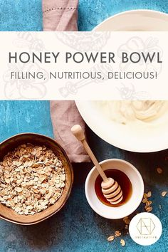 Packed full of gluten free oats, nuts and our antimicrobial, active healing honey this recipe for a power bowl is the perfect way to start the morning. Breakfast just got super healthy, not to mention utterly delicious. Check it out on our blog. If you want 20% off your first order sign up the newsletter. #nectahive #honey #luxuryhoney #jarrahhoney #redgumhoney #antimicrobialhoney #honeyrecipes Honey Recipes, No Dairy Recipes, Cooking Recipes, Healthy Recipes, Gluten Free Porridge, Gluten Free Oats, Breakfast Waffles, Free Breakfast, Australian Honey