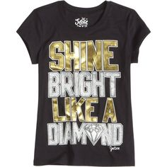 Shine Like A Diamond Graphic Tee bffs and faves featuring polyvore and kids clothes