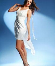 rövid esküvői ruha muszlin, short wedding dress muslin