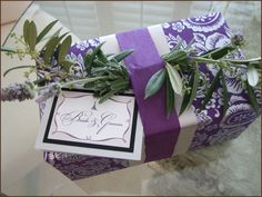 beautiful wrapping idea from Paper Melange