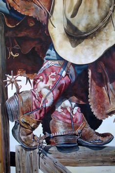 Cowboy and Fly Fishing Watercolor Prints for Sale - Nelson Boren Cowboy Horse, Cowboy Art, Cowboy And Cowgirl, Cowboy Boots, Westerns, Rodeo Cowboys, Le Far West, Art Archive, Equine Art