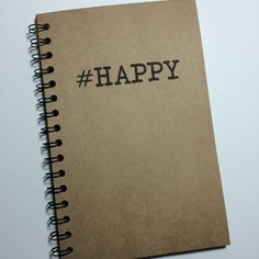 Happy Happy Notebook  Hashtag Journal Notebook by MisterScribbles