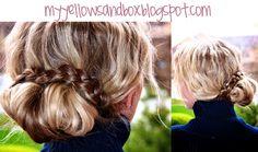 My Yellow Sandbox: Day 14- the braided bun. Easy up do!