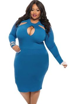 plus size bandage dress