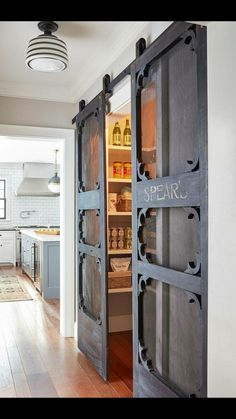 these pantry doors are so unique.