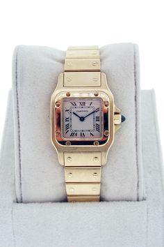 Cartier Ladies 18K Yellow Gold Santos Watch $7995