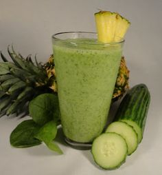 """Jimmy Anderson's Casual Gourmet: Smoothie & Juice Menu Green Smoothie - our favorite, the """"Pineapple Basil"""""""