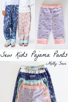 How to sew pajamas - make kid's pajamas in any size for a whole crowd - tutorial with video by Melly Sews