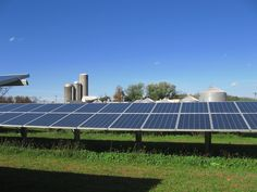 Solar panels and farms seem to go together.