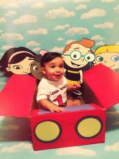 Little Einsteins birthday photo booth