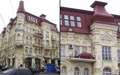 Voiture garée sur un balcon