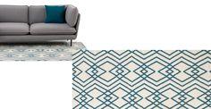 Lina oosters geïnspireerd geometrisch vloerkleed 160 x 230cm, blauw
