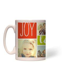 Joy Love Family Mug, White, 15 oz