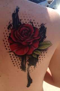 Rose done in Trash Polka style. Awesome ain't it?