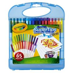 When kids get their hands around these Crayola® Supertips markers they can do both with enjoyable ease! This Crayola® art .
