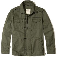 A military-inspired shirt jacket made with soft twill fabric, featuring chest utility pockets, button front closure and side welt pockets, Classic Fit, Imported
