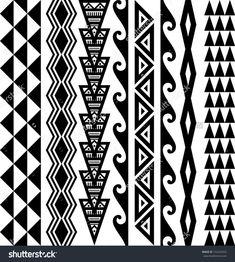stock-vector-kakau-hawaiian-tattoo-collection-152533553.jpg (1438×1600) #hawaiiantattoosturtle