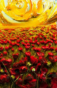 Justin Gaffrey 2012 500 Wildflowers Poppies By Justin Gaffrey Painting Large Abstract Wall Art, Abstract Canvas, Oil Painting On Canvas, Canvas Art, Abstract Oil, Michelangelo Artwork, Inspiration Art, Art Inspo, Painting Art