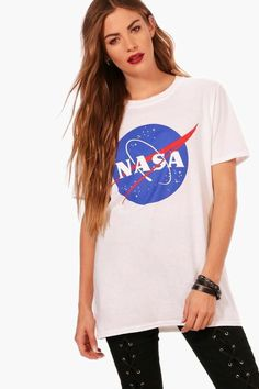 boohoo Emma Nasa Licence T-Shirt Nasa 6286a9fea53f
