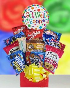 Get Well Cookie Cravings Snack Bouquet image