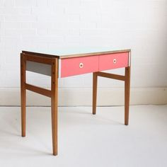 Pink and Green Dressing Table / Side table