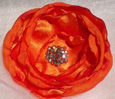 Tangerine Orange Hair Flower Clip