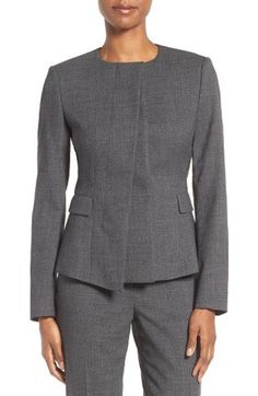 Free shipping and returns on BOSS Jelanisa Tweed Suit Jacket at Nordstrom.com. An asymmetrical front anchored to a single metal toggle creates a strikingly modern look on a jacket impeccably tailored from a fine wool-blend tweed.