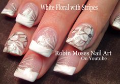 341 best flower nail art gallery with full tutorials images on pinterest white flower nail design nails nailart nail art design mightylinksfo
