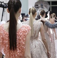 Hair at Elie Saab Spring 2012