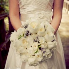 David Austin Roses wedding bouquet