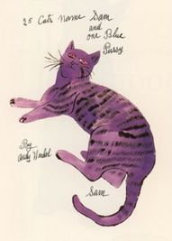 Purple - Cat - Andy Warhol More At FOSTERGINGER @ Pinterest