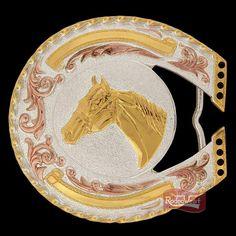 Fivela 3D Cabeça de Cavalo c/ Banho Dourado/ Prata/ Cobre - Sumetal - Rodeo West