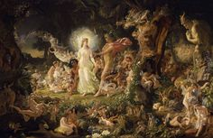 "The Quarrel of Oberon & Titania, by Joseph Noel Paton, 1849. From ""a Midsummer Night's Dream"" by Shakespeare <3"