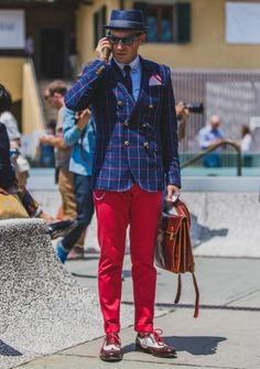 Day one street style highlights from the Pitti Uomo menswear festival in Florence, Italy.