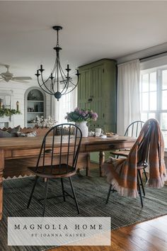 Magnolia Home by Joanna Gaines has the most beautiful and unique rugs for any room in your home! Check them out at nwrugs.com! #joannagaines #farmhousechic #magnolia #magnoliamarket Farmhouse Kitchen Tables, Modern Farmhouse Kitchens, Farmhouse Decor, Kitchen Modern, Kitchen Country, Kitchen Ideas, Kitchen Rug, Country Farmhouse, Rug Under Kitchen Table