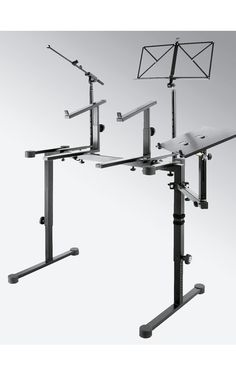 Korg Forums :: View topic - Dual Keyboard stand with a laptop holder
