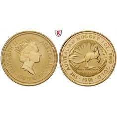 Australien, Elizabeth II., 100 Dollars seit 1986, 31,07 g fein, st: Elizabeth II. seit 1952. 100 Dollars 31,07 g fein, seit 1986.… #coins