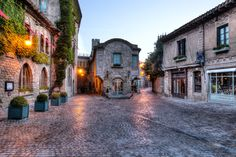 Old Street - Carcassone, France at dawn