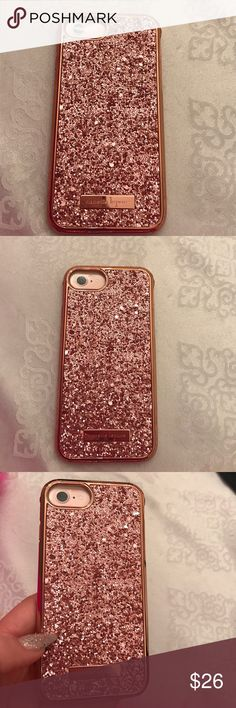 Nanette Lepore 2 Pc rose gold glitter iphone case Compatible with iPhone 7 and iPhone 6/6s. Beautiful rose gold glitter. Brand new in a box. nannette lepore Accessories Phone Cases