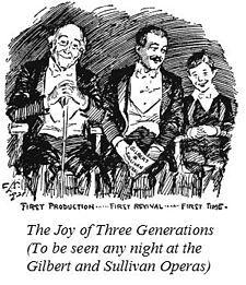 1921 cartoon of Gilbert and Sullivan audiences