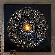 divali firework light up canvas art