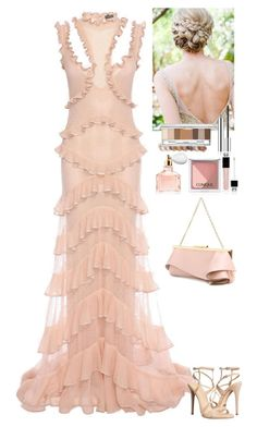 """Event"" by eliza-redkina ❤ liked on Polyvore featuring Alexander McQueen, Schutz, Emanuel Ungaro, Christian Dior, Guerlain, Clinique, outfit, like, look and evening"