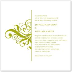Fresh Flourish:Pumpkin, Wedding Invite - weddingpaperdivas.com