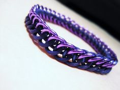 Purple Stretchy Half Persian Chainmaille Bracelet by MelonLove, $12.00