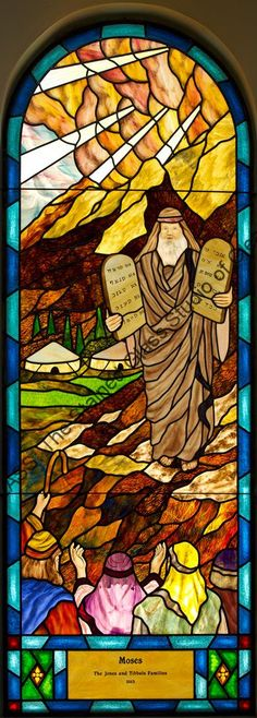 Moses Stained Glass Church Window Tampa Florida