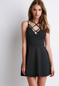 Strappy Fit & Flare Dress | Forever 21 - 2000096463