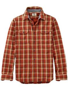 c920e21a4962 Timberland Men's Long Sleeve Double Layer Plaid Shirt, Available at  #EssentialApparel Flannels, Timberland